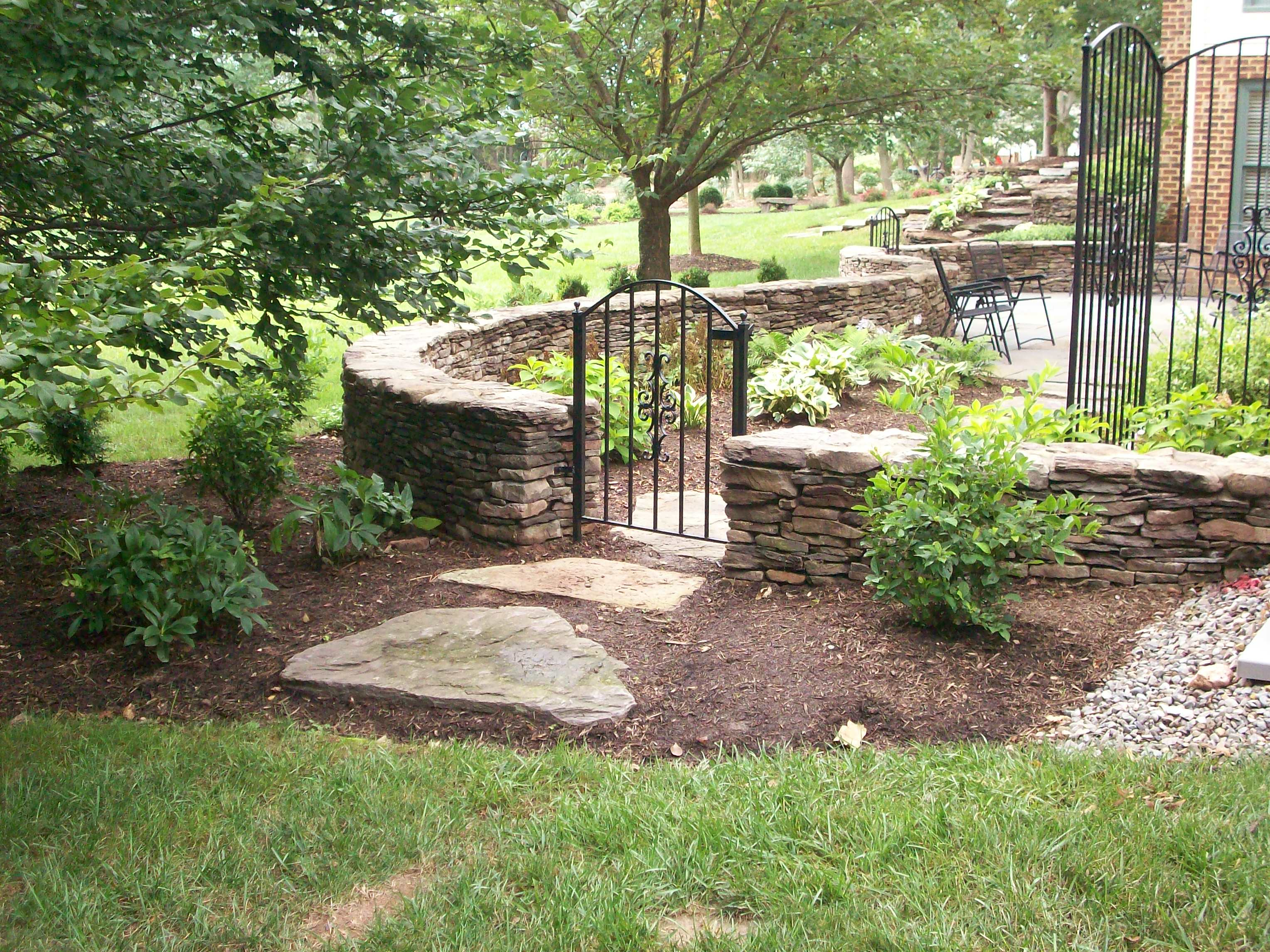 Fieldstone Rock Patios : Main street landscape design patios