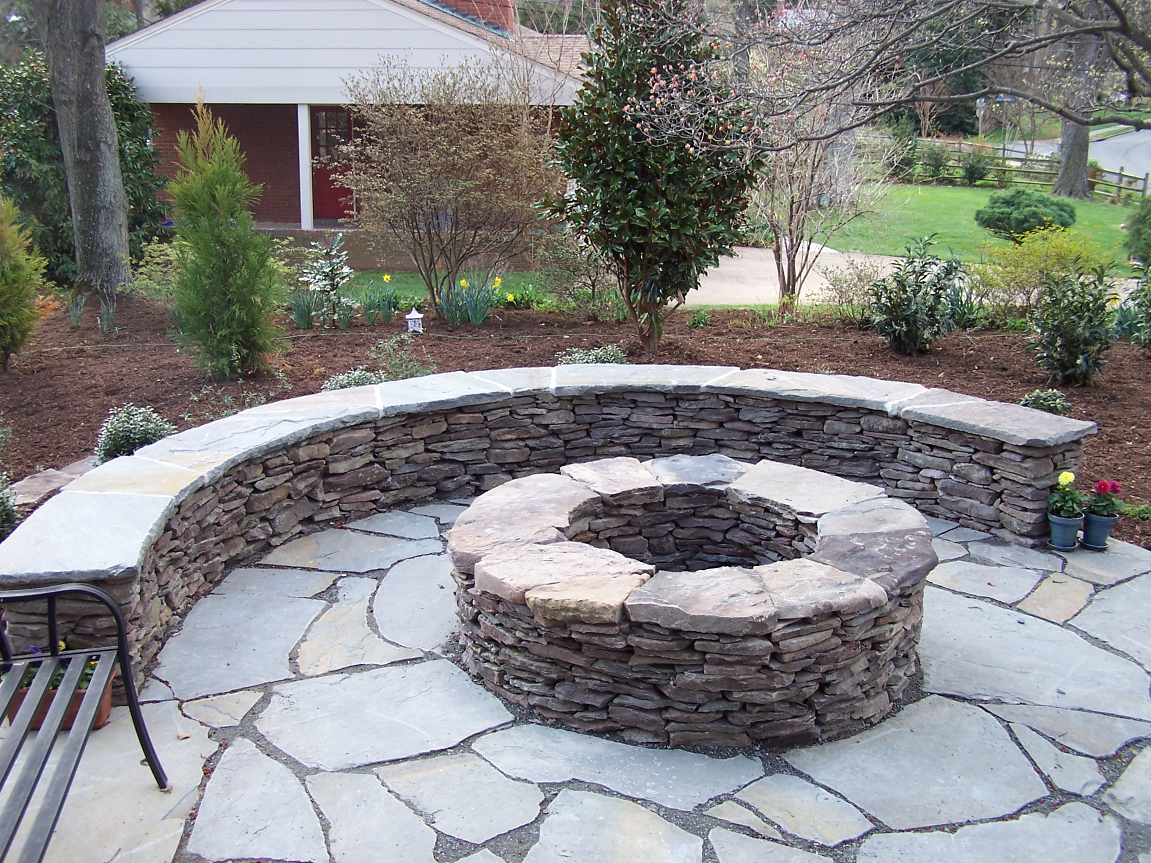 Large Natural Stone Fire Pit Joy Studio Design Gallery