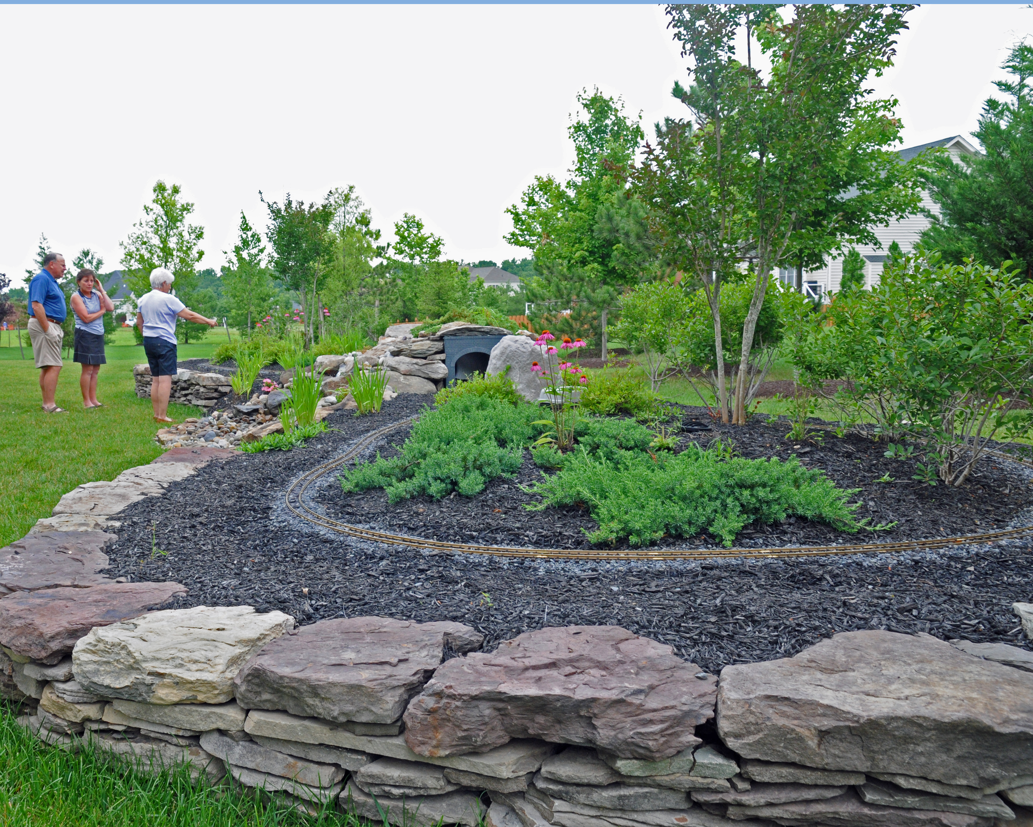 Fieldstone Walls Landscaping : Main street landscape design patios