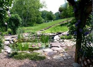 Boulder water feature