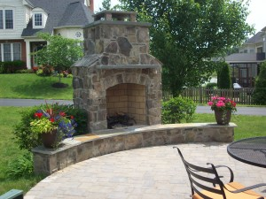 Veneered fireplace in Leesburg