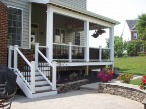 Covered deck and patio in Leesburg