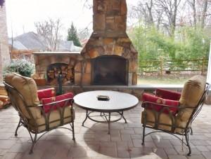 Fireplace, wood storage