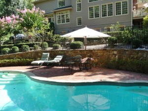 Outdoor landscaping, pool in Fairfax Station