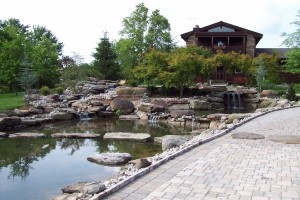 Boulders, water, stepping stones