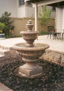 water, gardens, landscape, fountain