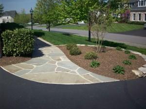 Flagstone walkway, Ashburn, VA