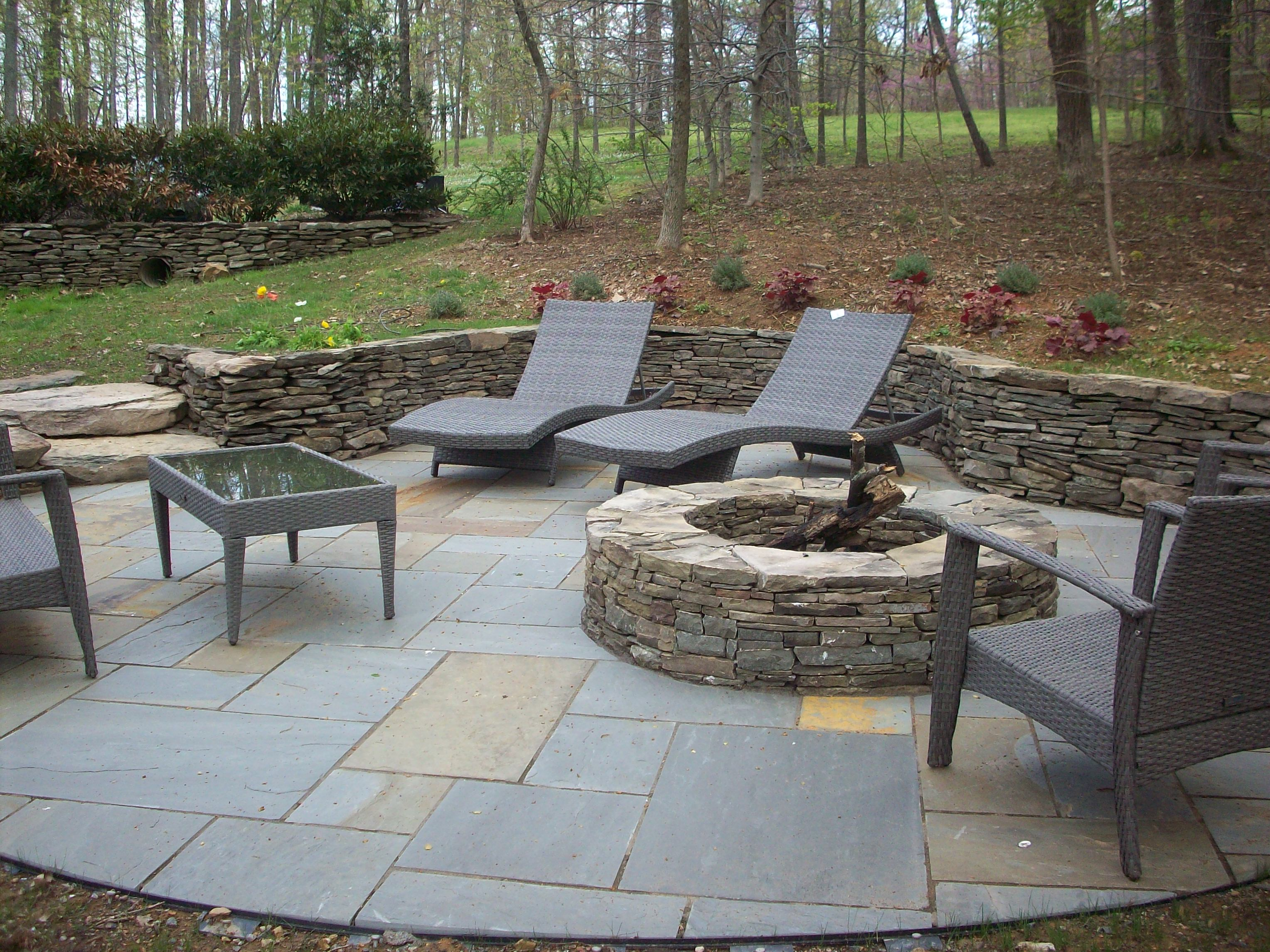 Landscape Design for Your New NoVa Patio Dry laid Stone verses