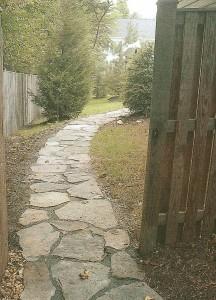 Rustic stone walkway