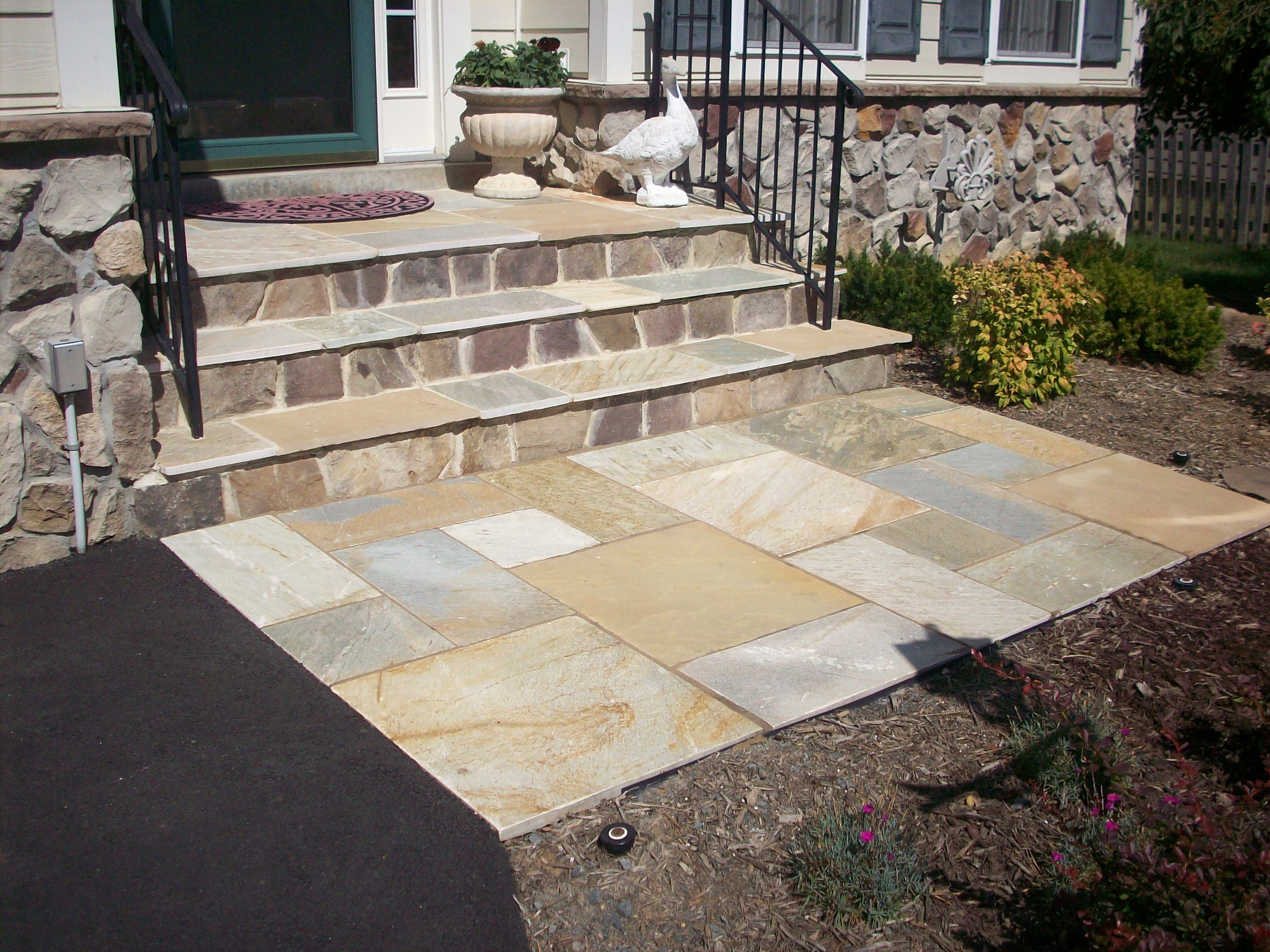 100 dry laid bluestone patio all terra landscape for Outdoor furniture virginia beach